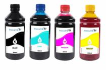 Kit 4 Tintas para Brother Universal 500ml CMYK Inova Ink -