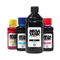Kit 4 Tintas para Canon G2100 Black 500ml Coloridas 100ml Mega Tank -