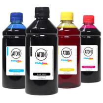 Kit 4 Tintas para Cartucho HP 46  2529  4729 CMYK 500ml Aton