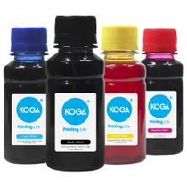Kit 4 Tintas para Cartucho HP 662  662XL  2546 CMYK 100ml Koga