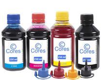 Kit 4 Tintas para Epson EcoTank L380 CMYK 250ml Cores -