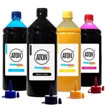 Kit 4 Tintas para Impressora Sublimática L395 CMYK 1 Litro Aton -