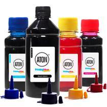 Kit 4 Tintas para L120 Black 500ml Coloridas 100ml Aton Corante -