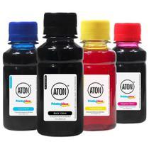 Kit 4 Tintas para Universal CMYK 100ml Aton -