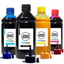 Kit 4 Tintas Sublimática para Impressora L395 500ml Aton -