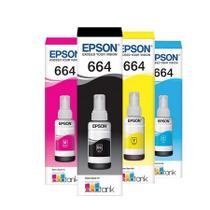 Kit 4 Tintas T664 Epson L395 L380 L375 L220 L455 Original -
