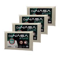 Kit 4 Travesseiros Nasa 3D Viscoelástico com mais Suporte Duoflex -