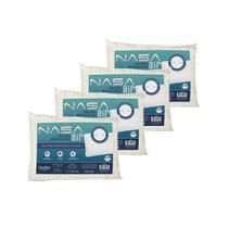 Kit 4 Travesseiros Nasa Air Viscoelástico com Ondas Massageadoras Duoflex -