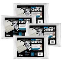 Kit 4 Travesseiros Nasa Double Comfort Fibrasca -