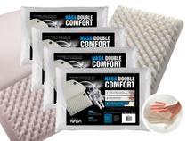 Kit 4 Travesseiros Nasa Double Comfort - Fibrasca -