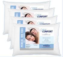 Kit 4 Travesseiros Ortobom Max Confort 100% Algodão 180 Fios -