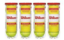 Kit 4 Tubos de Bolas de Tênis Championship - Wilson -