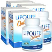 Kit 4 Und Quitosana Vit C Lipolife 90 caps 500mg - Mediervas