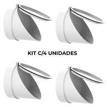 Kit 4 Válvulas de Retenção Esgoto 100 Mm (4 Pol) Anti Inseto - Cdl Plast
