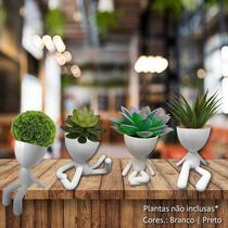Kit 4 Vasos Decorativos Robert Plant P/ Suculentas - Médio - Vip Mold