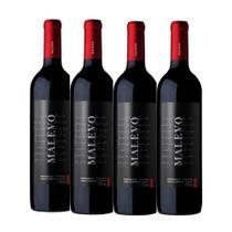 Kit 4 Vinhos tintos TEMPRANILLO- BONARDA malevo argentino -