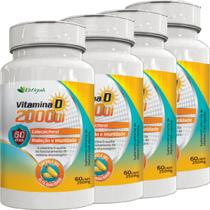 Kit 4 vitamina d 2000 ui 60 capsulas katigua -