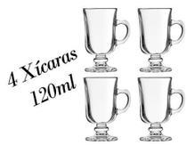 Kit 4 Xícaras Dolce Gusto 120ml Capuccino Caneca Irish Coffe - Crisal