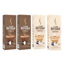 Kit 40 Capsulas Chocolate Cappuccino P/ Cafeteira Nespresso - Cafe Brasil