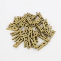 Kit 40 Mini Prendedores - Dourado - Interponte