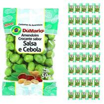 Kit 40 Pacotes Amendoim Crocante Sabor Cebola Salsa 50 gramas - Amendoim dumario