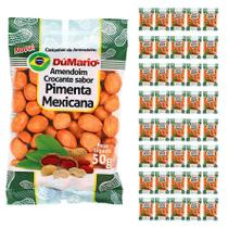 Kit 40 Pacotes Amendoim Crocante Sabor Pimenta Mexicana 50 gramas - Amendoim dumario