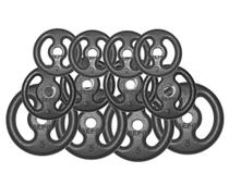 Kit 40Kg com 12 Anilhas de Ferro Fundido - Sepo - Pesos