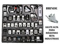 Kit 42 Calcadores + Haste Alta Para Maquina Reta Industrial - Levolpe