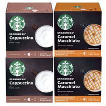Kit 48 Cápsulas Nescafé Dolce Gusto Starbucks Cappuccino e Caramel Macchiato - Nestlé -