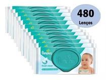 Kit 480 Lenços Toalha Umedecidos Pampers Fresh -
