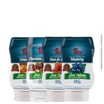 Kit 4x Caldas P/ Sobremesa Zero Açúcar Zero Cal - Mrs Taste -