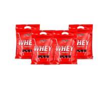 Kit 4x Nutri Whey Chocolate 907g Whey Protein Concentrado Isolado Integralmédica -
