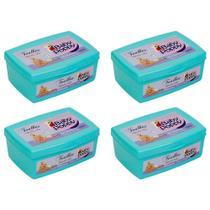 kit 4x pote toalhas lenços umedecidos baby poppy premium encorpada para uso de toda a família 100un -