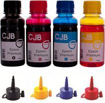 Kit 4x100ml de Tintas Compatível para Impressoras Epson L120 L365 L380 L395 L495 L555 L575 - Colour Jet Brasil