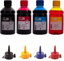 Kit 4x250ml de Tintas Compatível para Impressoras Epson L120 L365 L380 L395 L495 L555 L575 - Colour Jet Brasil