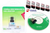 Kit 5 Adaptador Wireless Mini Usb Wifi 150Mbps Pc Notebook - Confest
