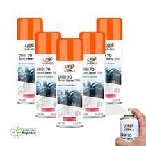 Kit 5 Álcool Spray 70 Antisséptico e Higienizador 300ML 209G Orbi -