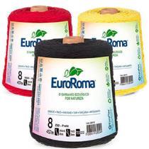 Kit 5 barbantes euroroma 600g n8 cores variadas -