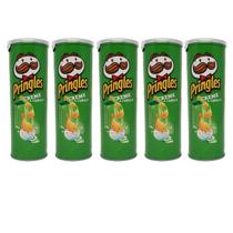 Kit 5 Batata Pringles Creme com Cebola Original 121g -