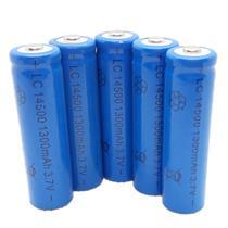Kit 5 Bateria Pilha Recarregáveis 14500 3.7 V Li-ion Oferta - YBF