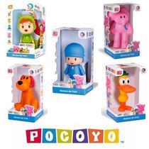 Kit 5 Bonecos De Vinil - Pocoyo Elly Nina Loula Pato - Cardoso Toys