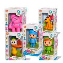 Kit 5 Bonecos De Vinil - Pocoyo Elly Nina Loula Pato - Cardoso Toys -