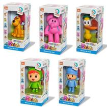 Kit 5 Bonecos Pocoyo com (Pocoyo, Elly, Nina, Loula e Pato) Cardoso Toys -