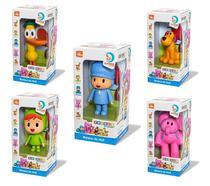 Kit 5 Bonecos Turma Do Pocoyo Elly Pato Loula Nina Vinil Cardoso - Cardoso toys