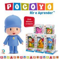 Kit 5 Bonecos Vinil Pocoyo + Elly + Loula + Pato + Nina - Cardoso Brinquedos - Cardoso Toys