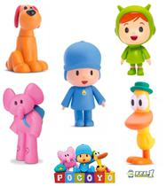 Kit 5 Bonecos Vinil Pocoyo Elly Loula Pato Nina Cardoso Toys -