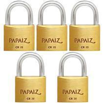 Kit 5 Cadeados 25mm Papaiz -