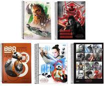 Kit 5 Cadernos Star Wars Os Últimos Jedi 96 Folhas - Jandaia - Star Wars Disney
