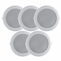 Kit 5 Caixa Acústica Arandela Som Teto Gesso C/6 Pol 300wrms - Multi Marcas