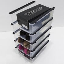 Kit 5 Caixa Organizadora Ordene Sapatos Empilhável Multiuso OR60800 Brinquedos Acessórios - Ordene s/a